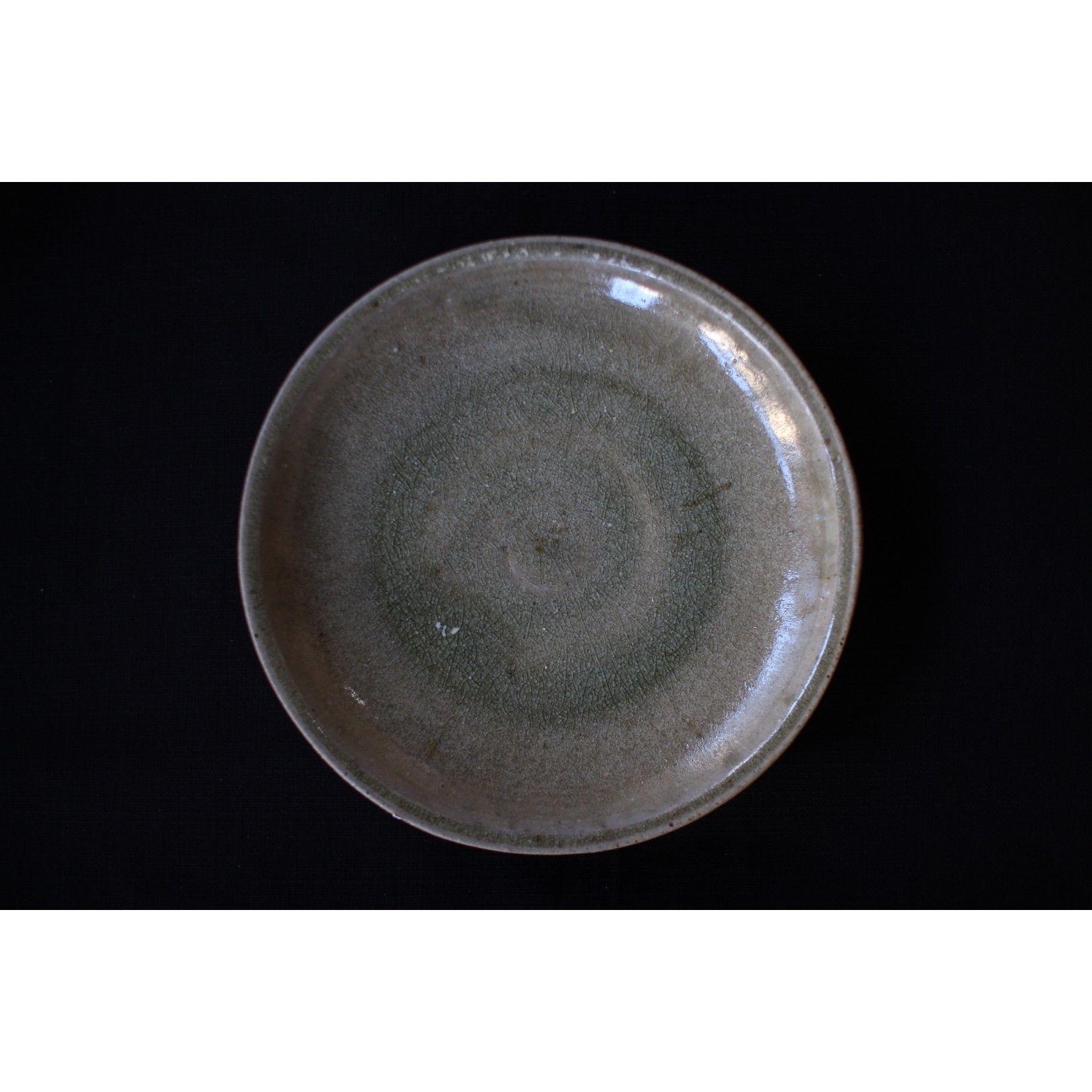 緑灰釉6寸皿 井上茂