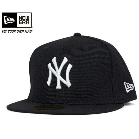 NEWERA 59FIFTY AUTHENTIC NEW YORK YANKEES BLACK(ニューエラ キャップ オーセンティック ニューヨーク ヤンキース ブラック 帽子)