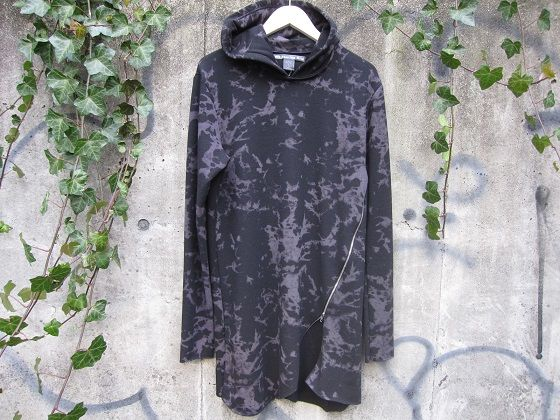 WHISPERING KITE DYED  L/S FOODIE (ウィズスプリング カイト 染め加工パーカー ロンティー カットソー)