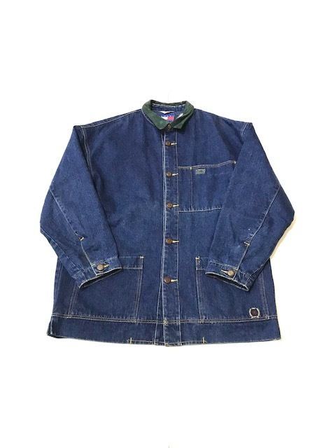 【USED】TOMMY HIFIGER DENIM COVERALL インディゴ L