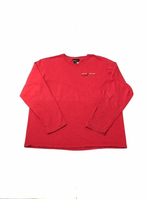 【USED】DKNY JEANS L/S tee レッド XXL
