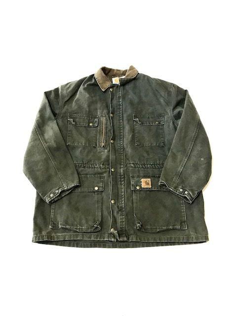 【USED】Carhartt RUG jacket カーキ XL