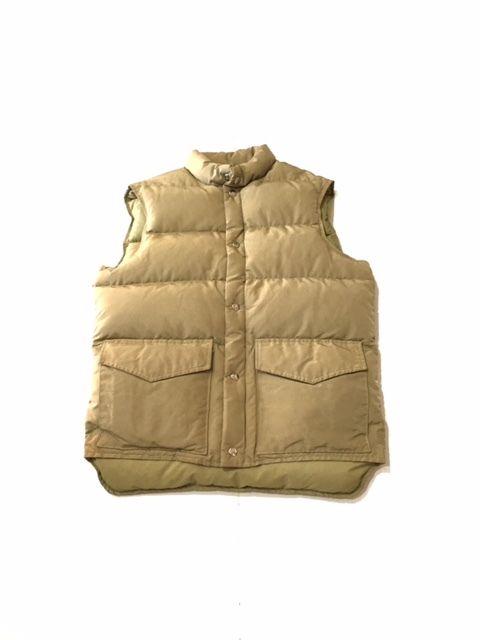 【USED】L.L.Bean DOWN vest ベージュ M