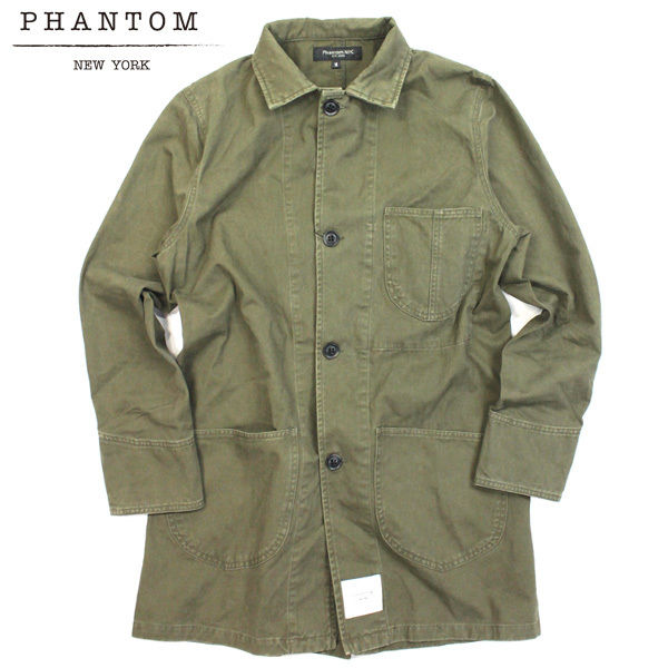【ラス1】Phantom NYC Shop Coat Jacket オリーブ L
