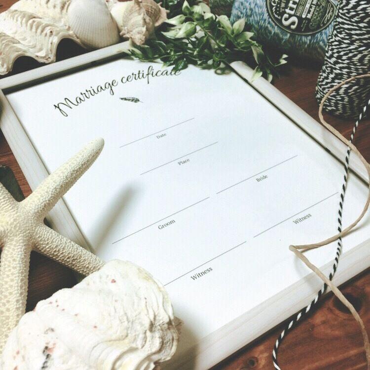 結婚証明書2枚セット