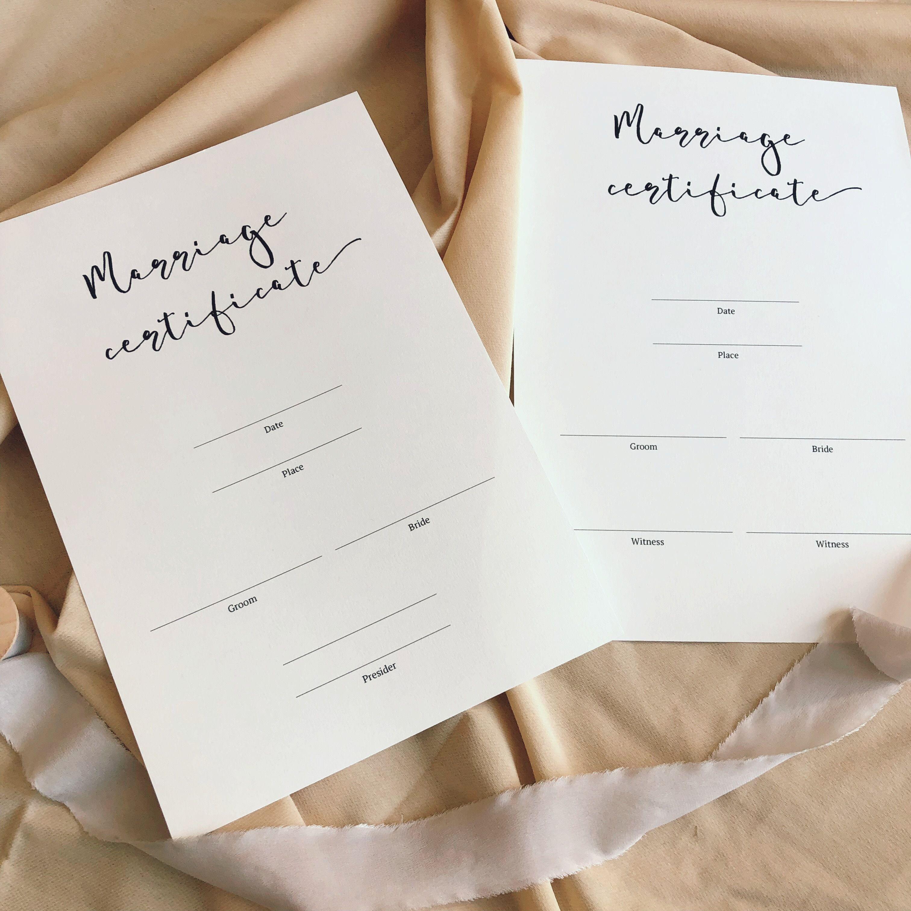 結婚証明書#1