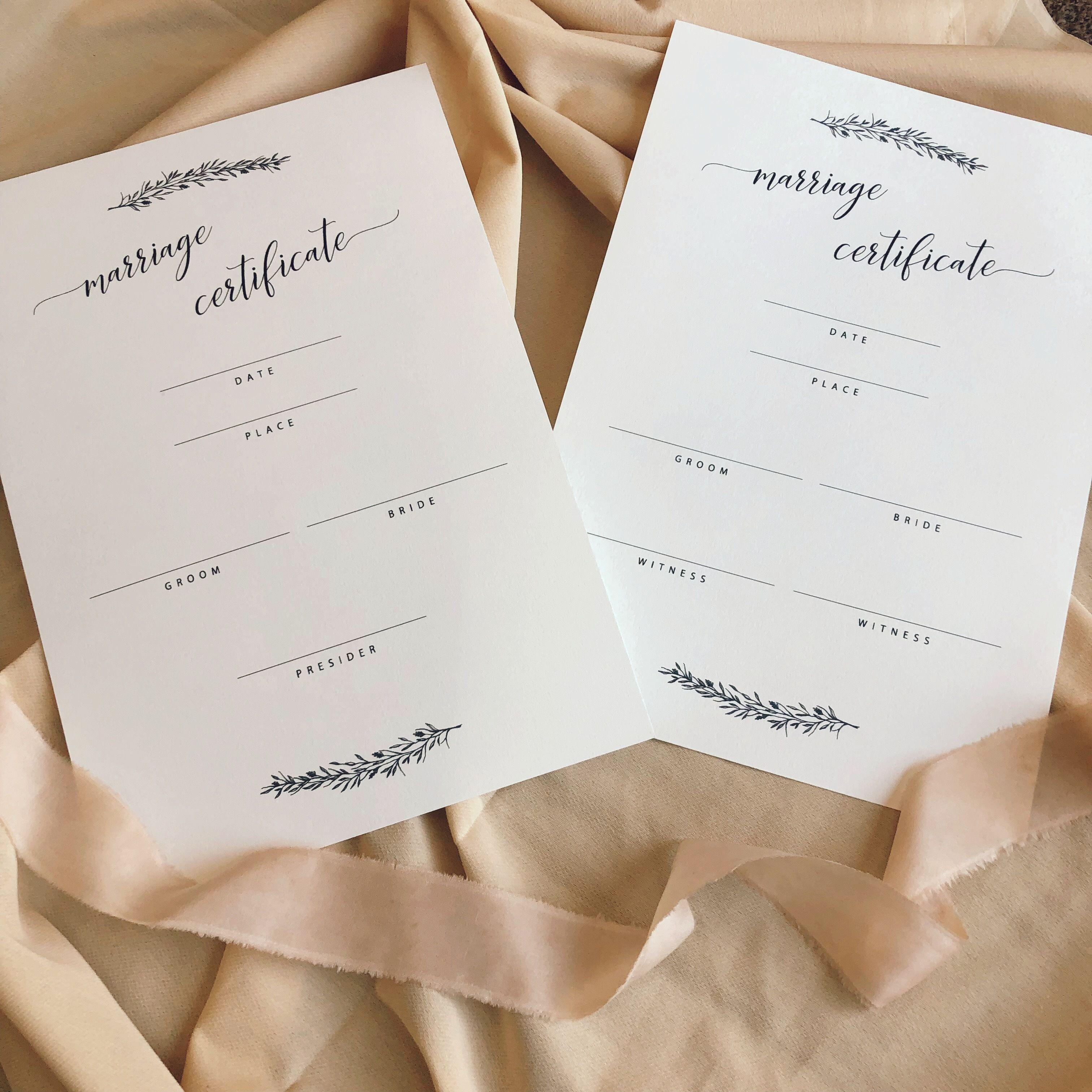 結婚証明書#8