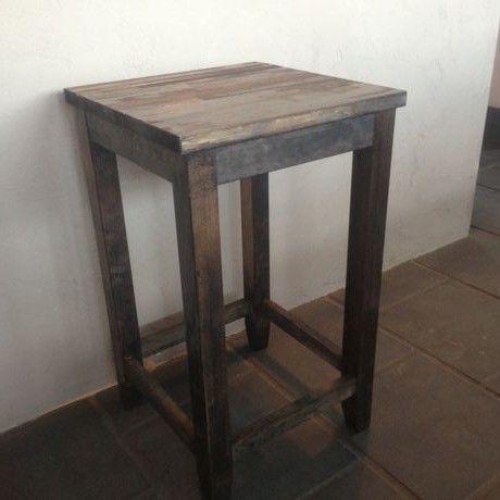 木製スツール ブラック1