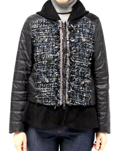 Re,Verofonna 3WAY ツイードキルティングジャケット(ブラック、グレー)