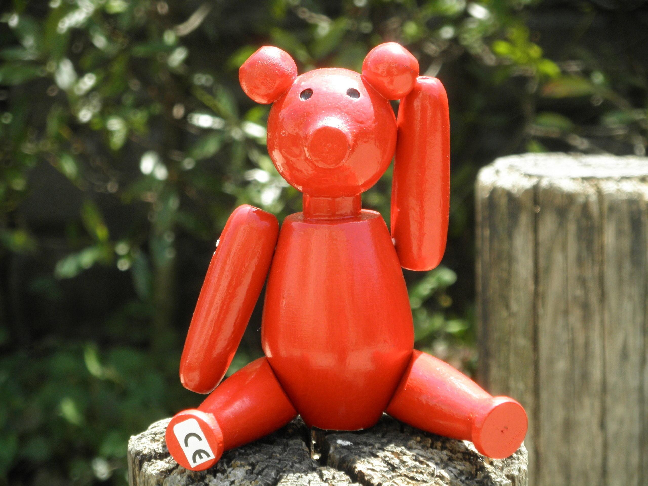 ノルウェー製手作りおもちゃ「クマ」