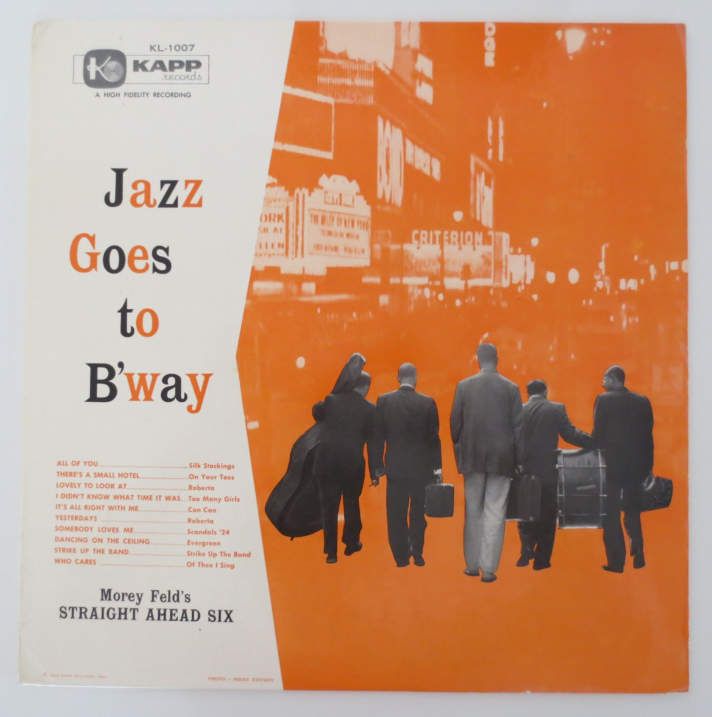 Morey Feld's Straight-Ahead Six ?- Jazz Goes To B'Way(Kapp Records ?- KL-1007)mono