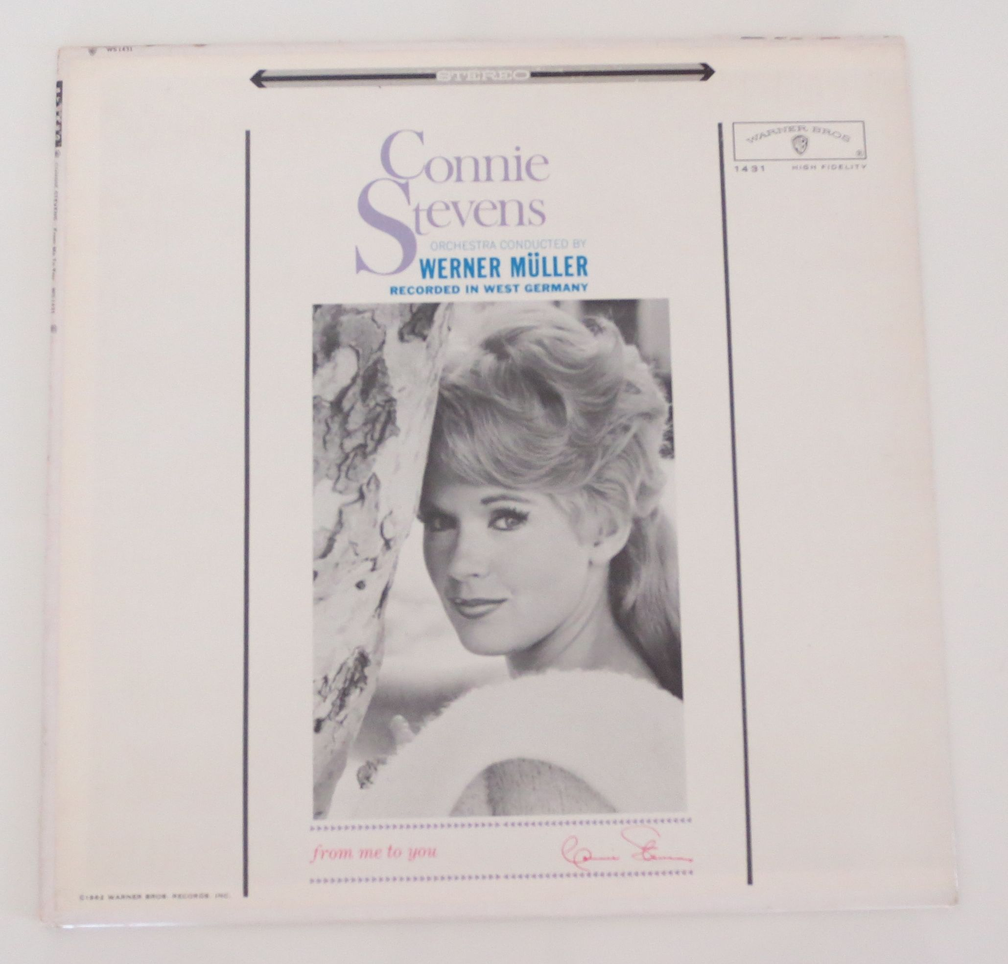 Connie Stevens ?/ From Me To You (Warner Bros. WS 1431) stereo