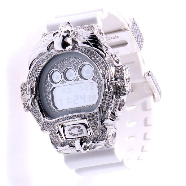 ReCreate G-shock Custom White Skull Full Custom DW-6900