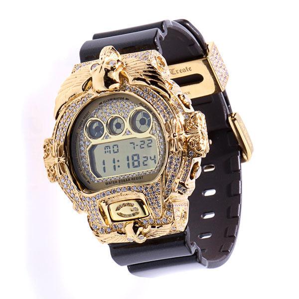 ReCreate G-shock Custom Gold Skull Full Custom DW-6900