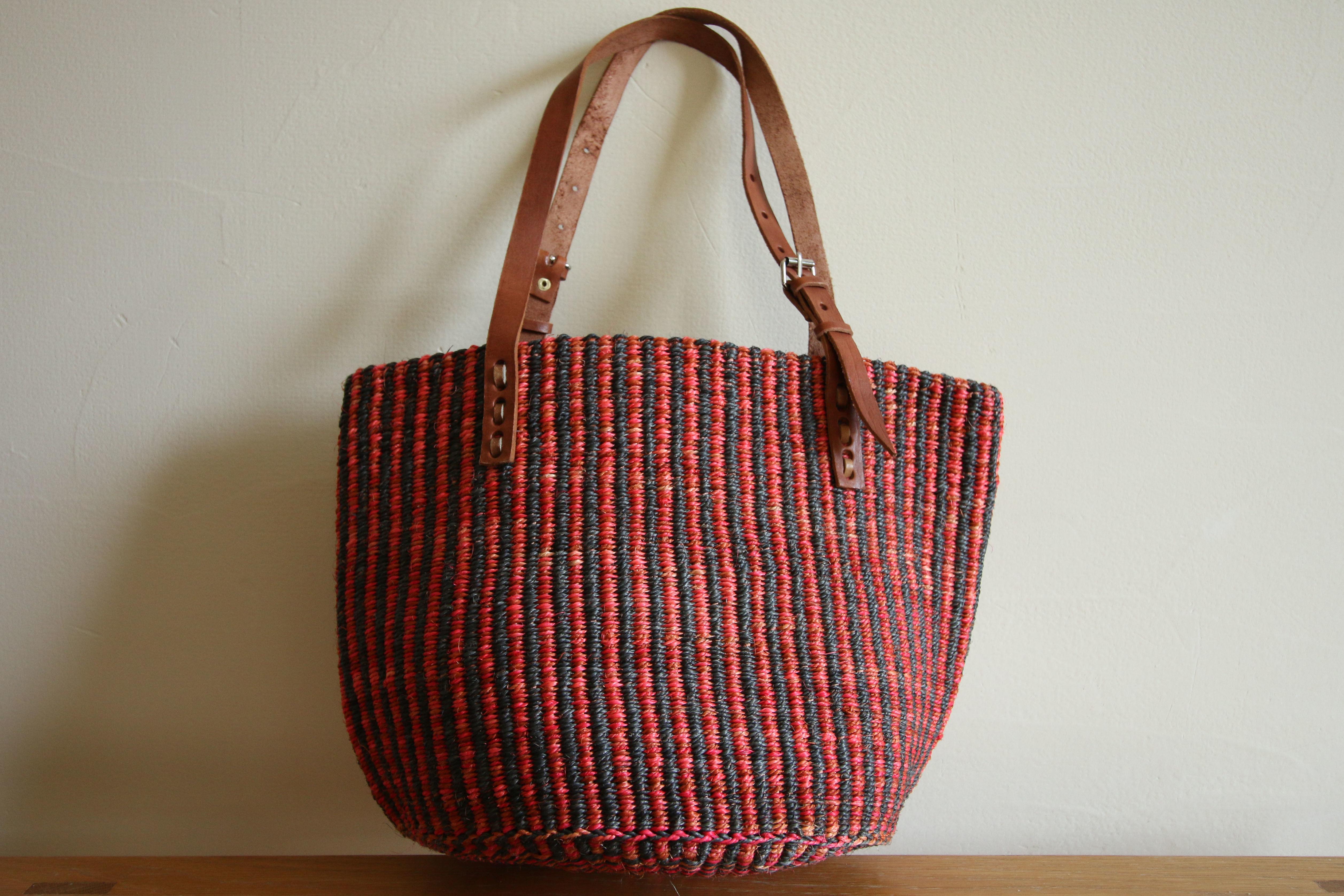 Sisal Bag / Red×Black