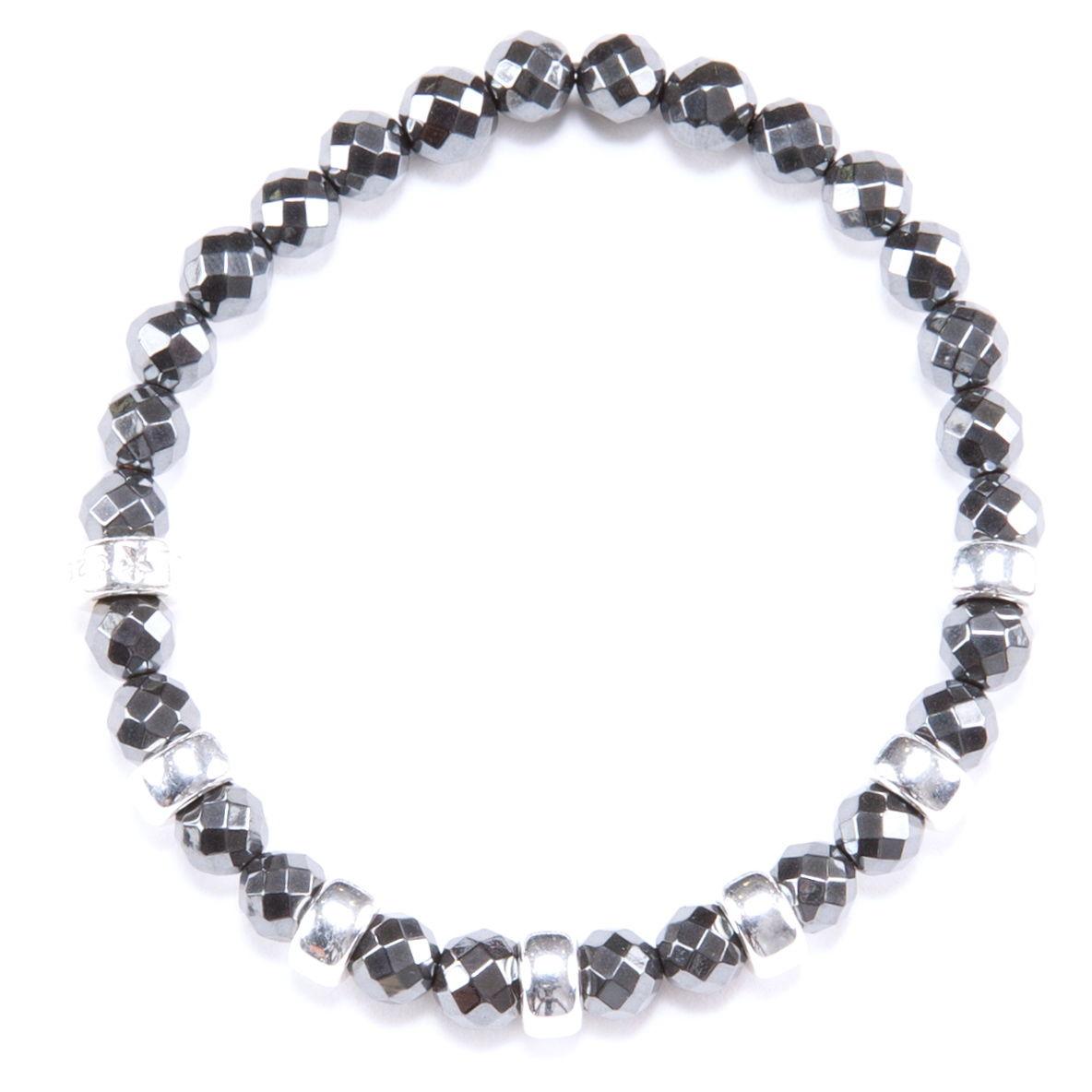 Hematite & Silver beads Bracelet
