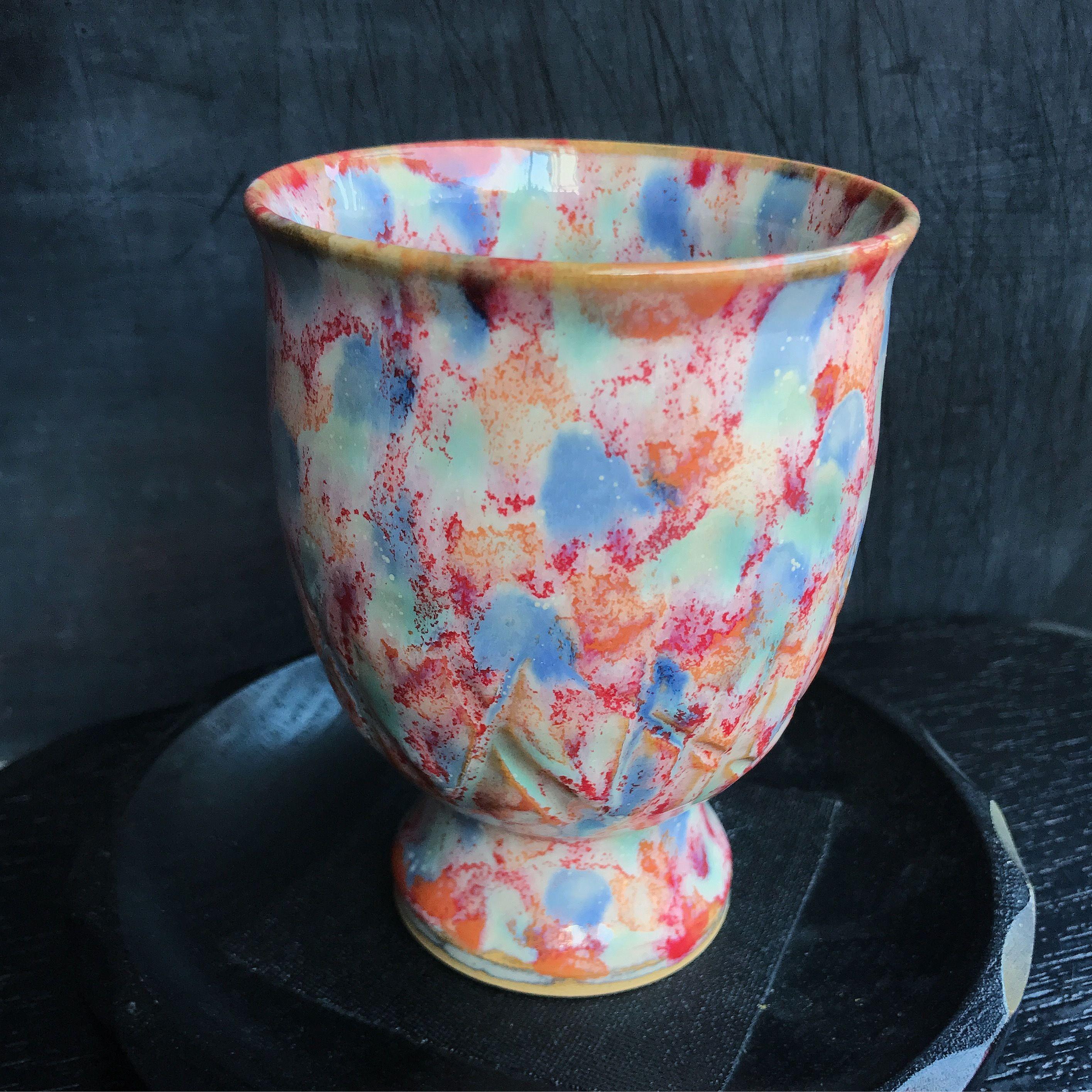 陶器 萩焼 和食器 作家 和モダン カフェ フリーカップ ワイングラス 酒杯 カラフル