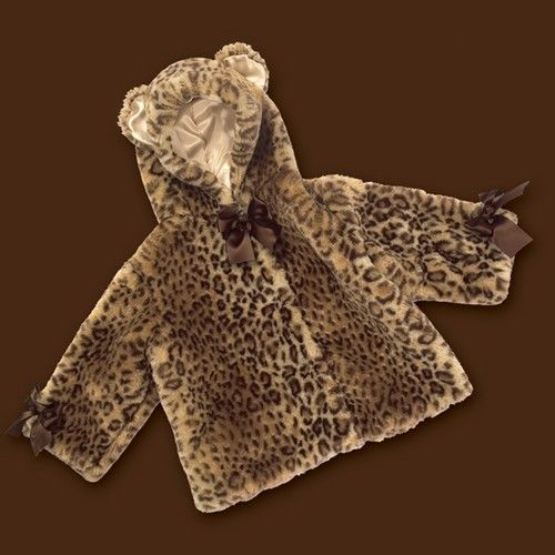 Bearington Baby Collection【ベアリントンベビーコレクション】Luxe Leopard Coat レオパード【6-12M】