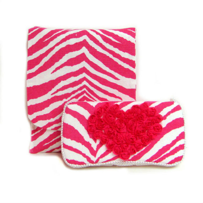 【Ajo.Bebe】アジョベベゼブラ×ピンクLove Collection wipes Case Chelsea2点セット【おしりふきケース】【オムツポーチ】【出産祝い】【ギフト】【プレゼント】