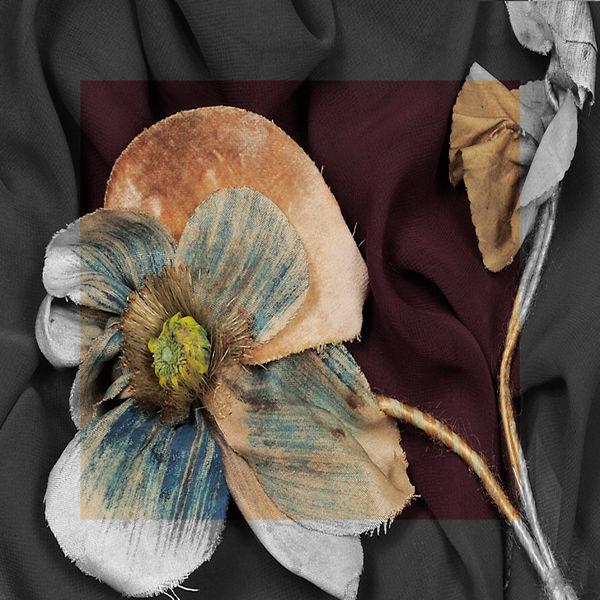 ストール&マルチクロス/Fake Flowers Blue/S:120×120cm