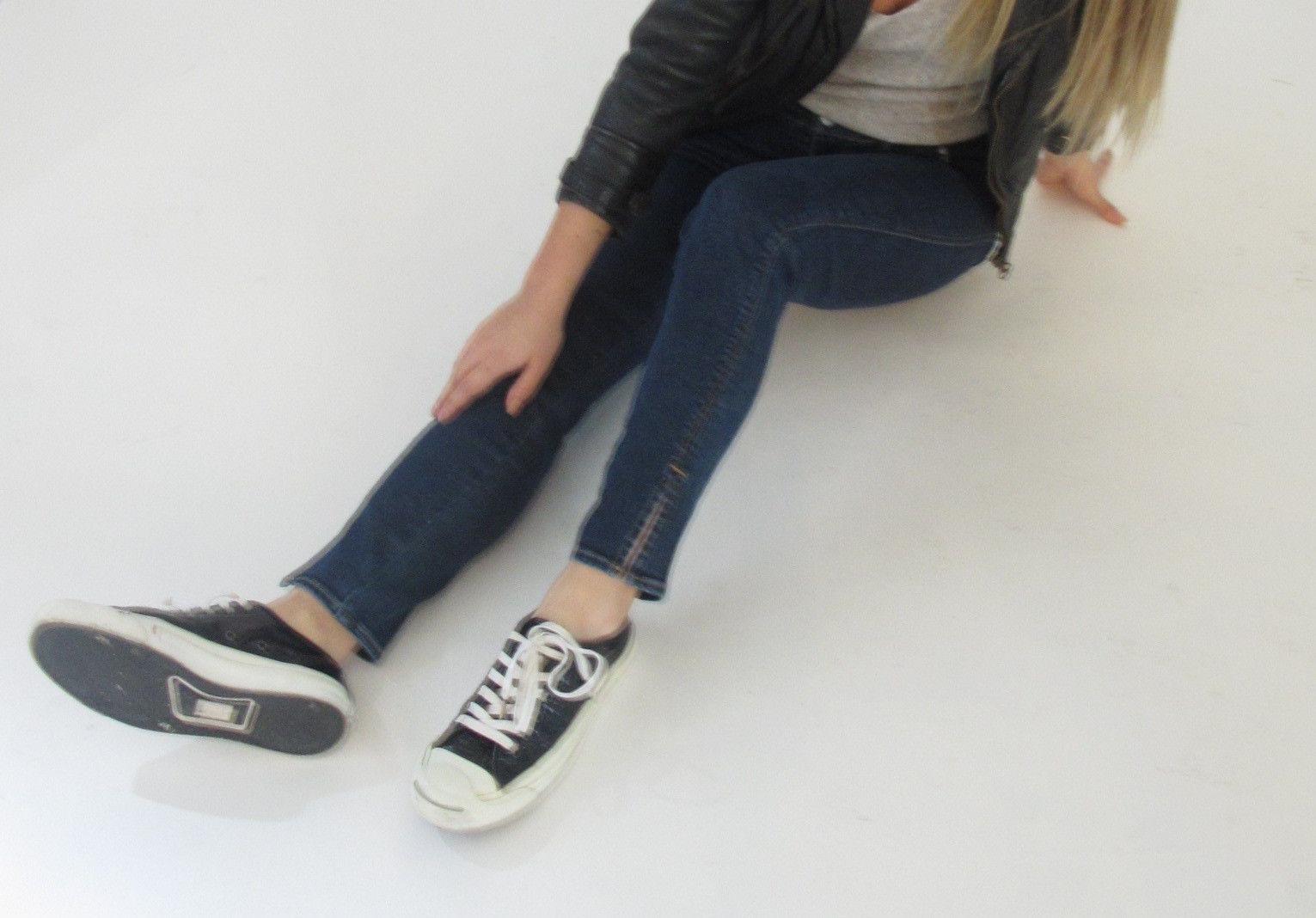 "#501?AOS ""Ankle slit skinny"""