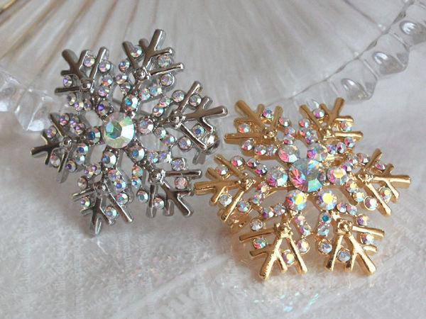 BRO-72 雪の結晶ピンブローチ/ラペルピン