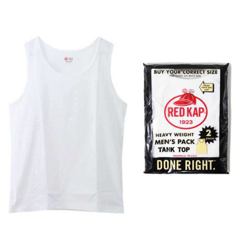 RED KAP pack tank top (White/2枚入)