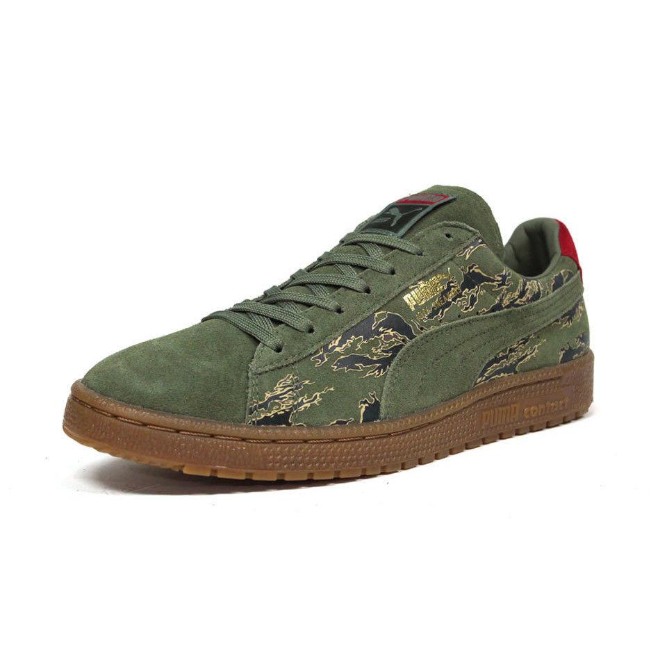 """【ラス1】MITA sneaker × PUMA Clyde × SBTG """"First contact""""(Tiger camo)"""