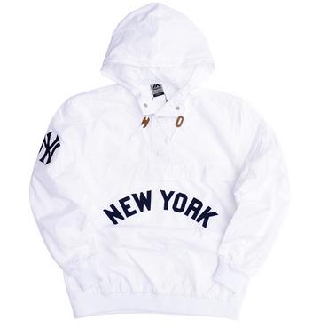 """【ラス1】Majestic """"NEW YORK"""" anorak nylon hoody(White)"""