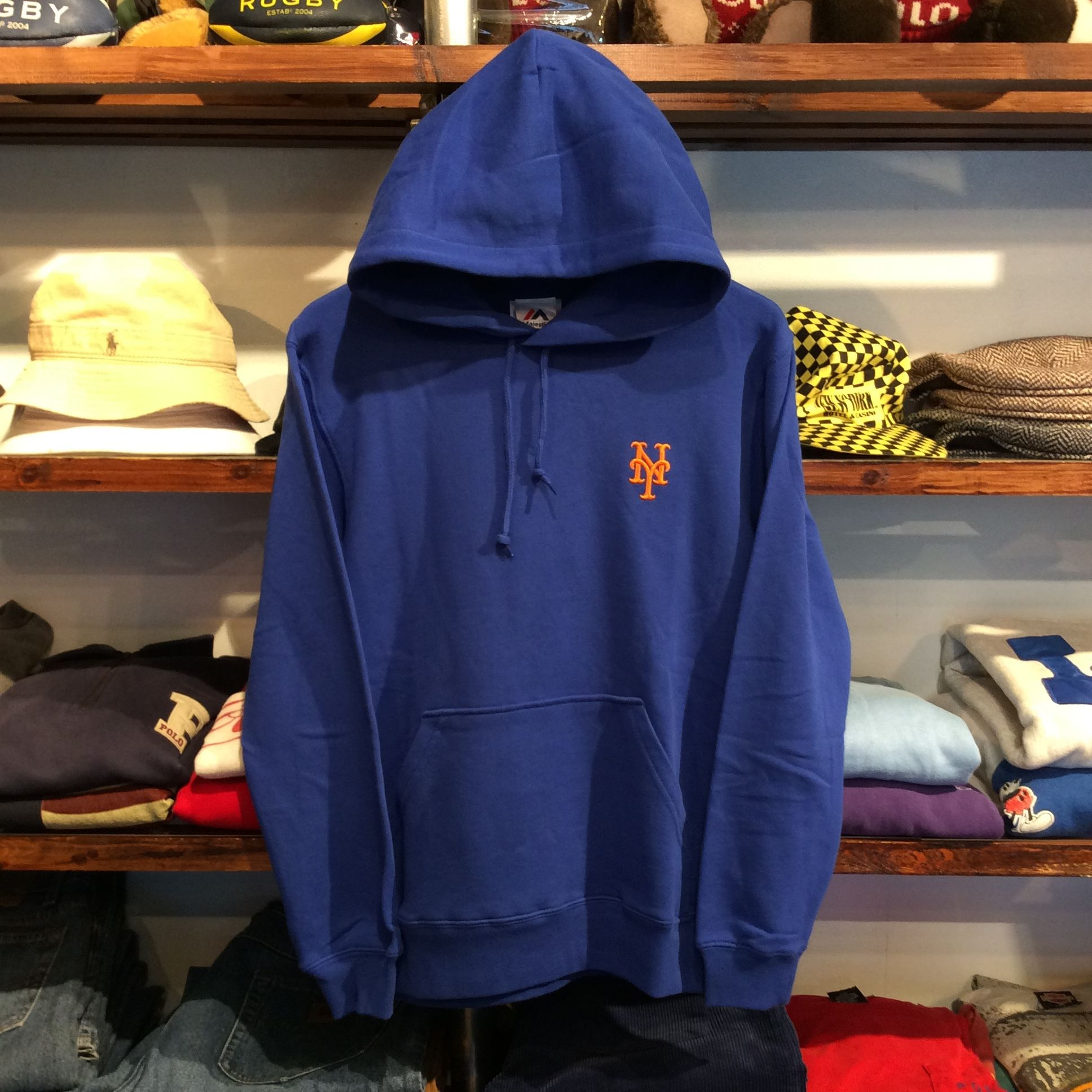 "【残り僅か】Majestic ""METS one point"" hoody(Blue)"