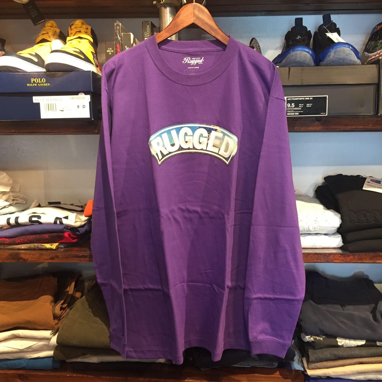 """【ラス1】RUGGED """"桜島 ARCH"""" L/S tee (Purple)"""