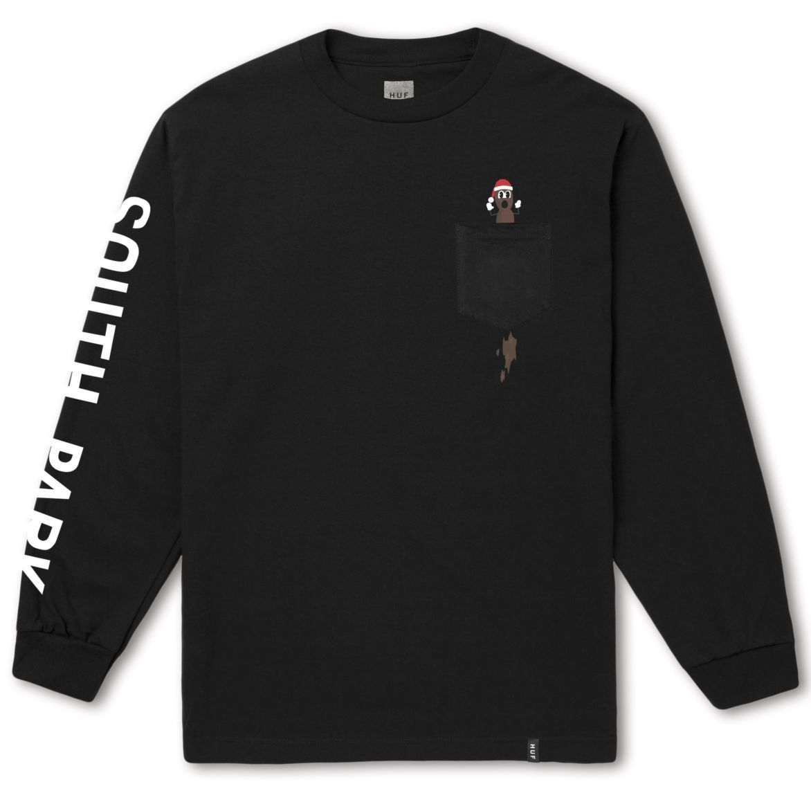 "【残り僅か】HUF × SOUTH PARK ""MR HANKY"" L/S POCKET TEE( Black)"