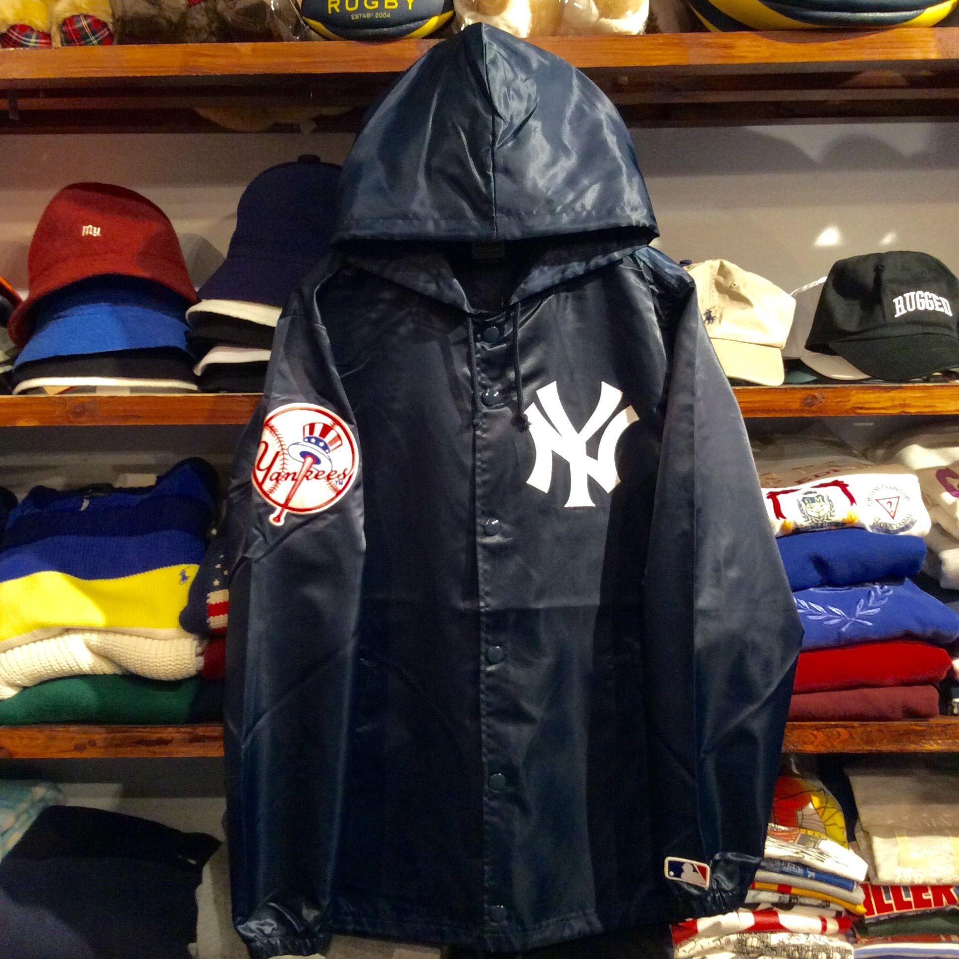 """【残り僅か】Majestic """"NY"""" hooded coach jacket (Navy)"""
