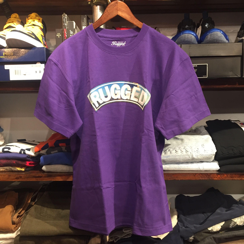 """【残り僅か】RUGGED """"桜島 ARCH"""" tee (Purple)"""