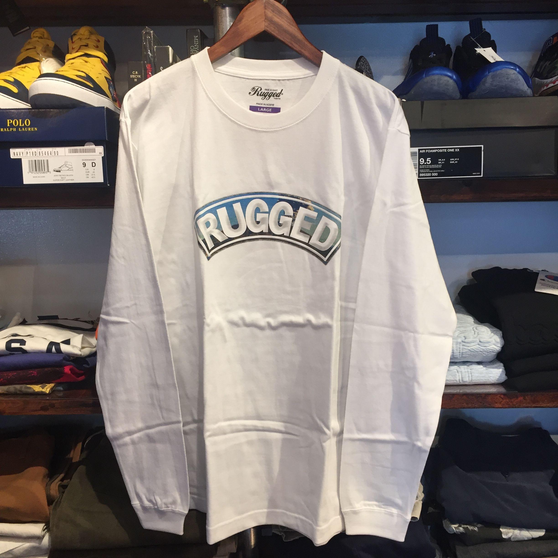 """【残り僅か】RUGGED """"桜島 ARCH"""" L/S tee (White)"""