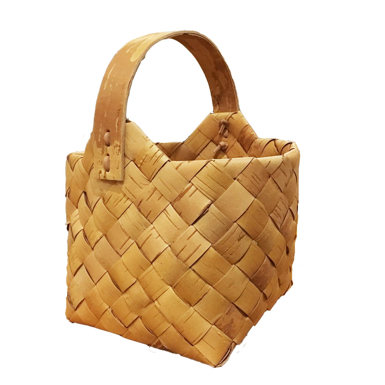 Svensk Hemsl?jd_Handmade White Birch Basket