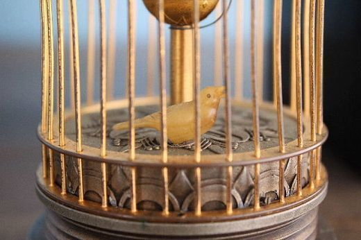 アンティーク古時計 鳥かご