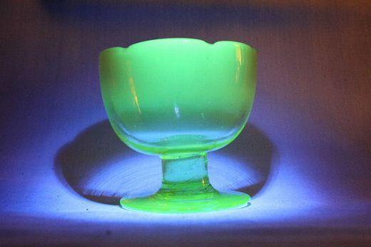 品番 g-0593 ウランガラス 氷コップ