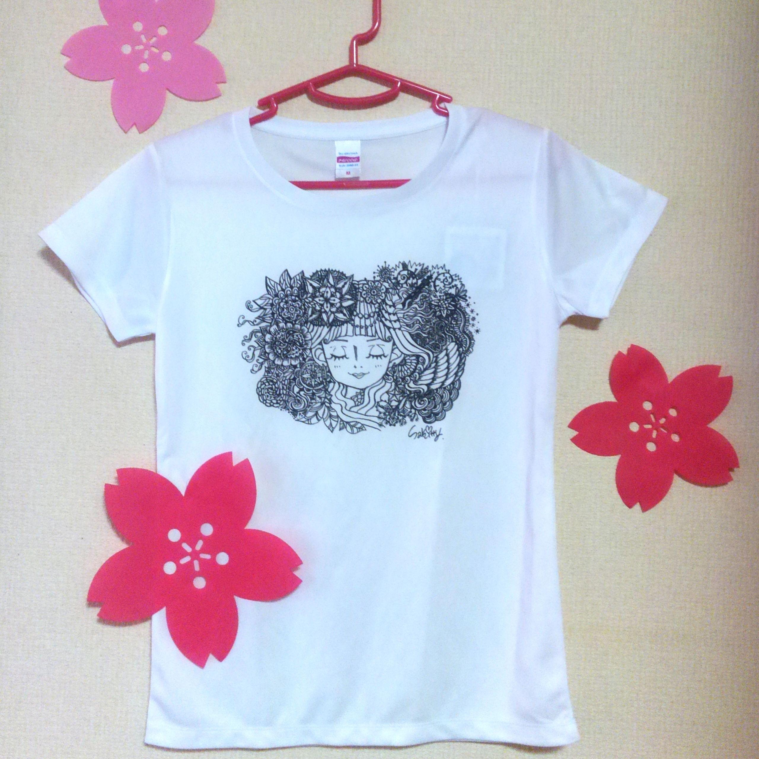 SAKITTY ART?オリジナルTシャツ(M)¥3200→値下げ(※名刺付き)
