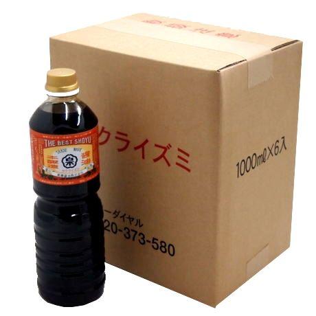 徳用まとめ買い 本醸造醤油(1Lペットボトル×6本セット)
