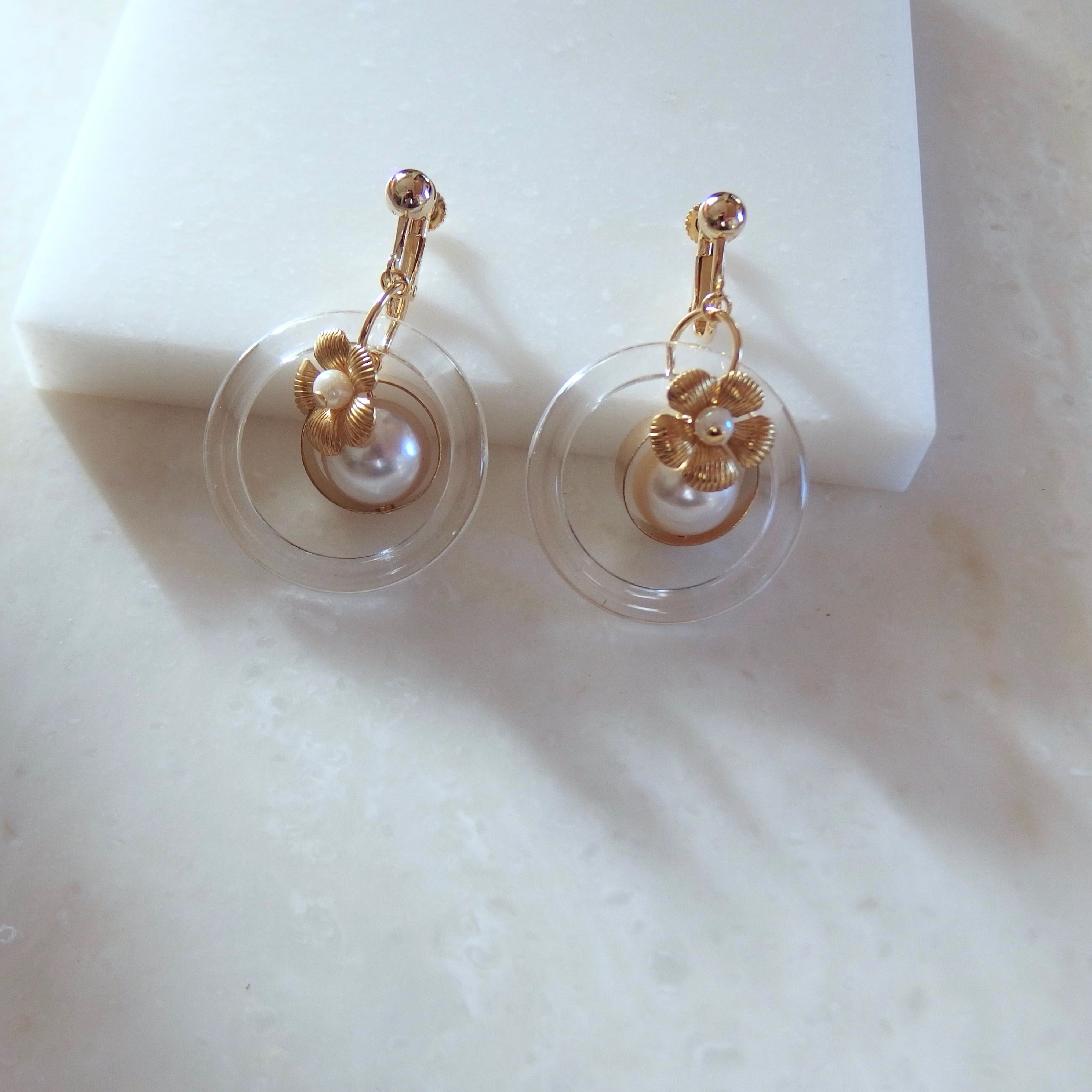 Flower Ring Earring (ピアス/チタンピアス変更可能)