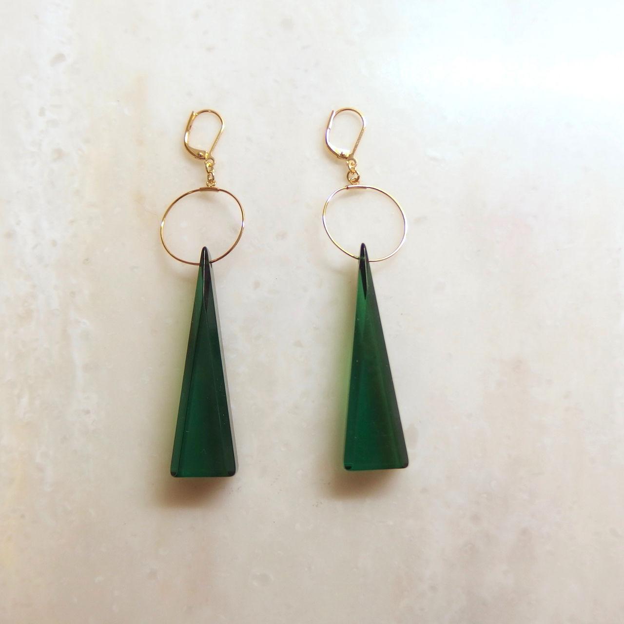 Green Triangle Pierce (イヤリング/チタンピアス変更可能)