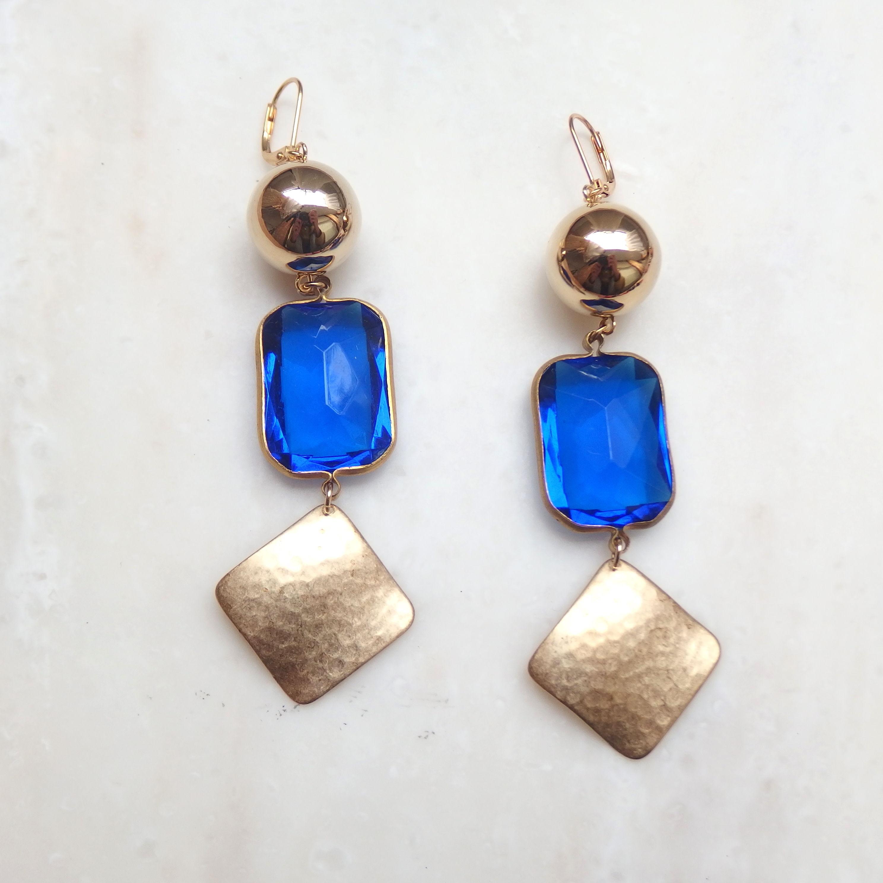 Blue Jewel Pierce (イヤリング/チタンピアス変更可能)