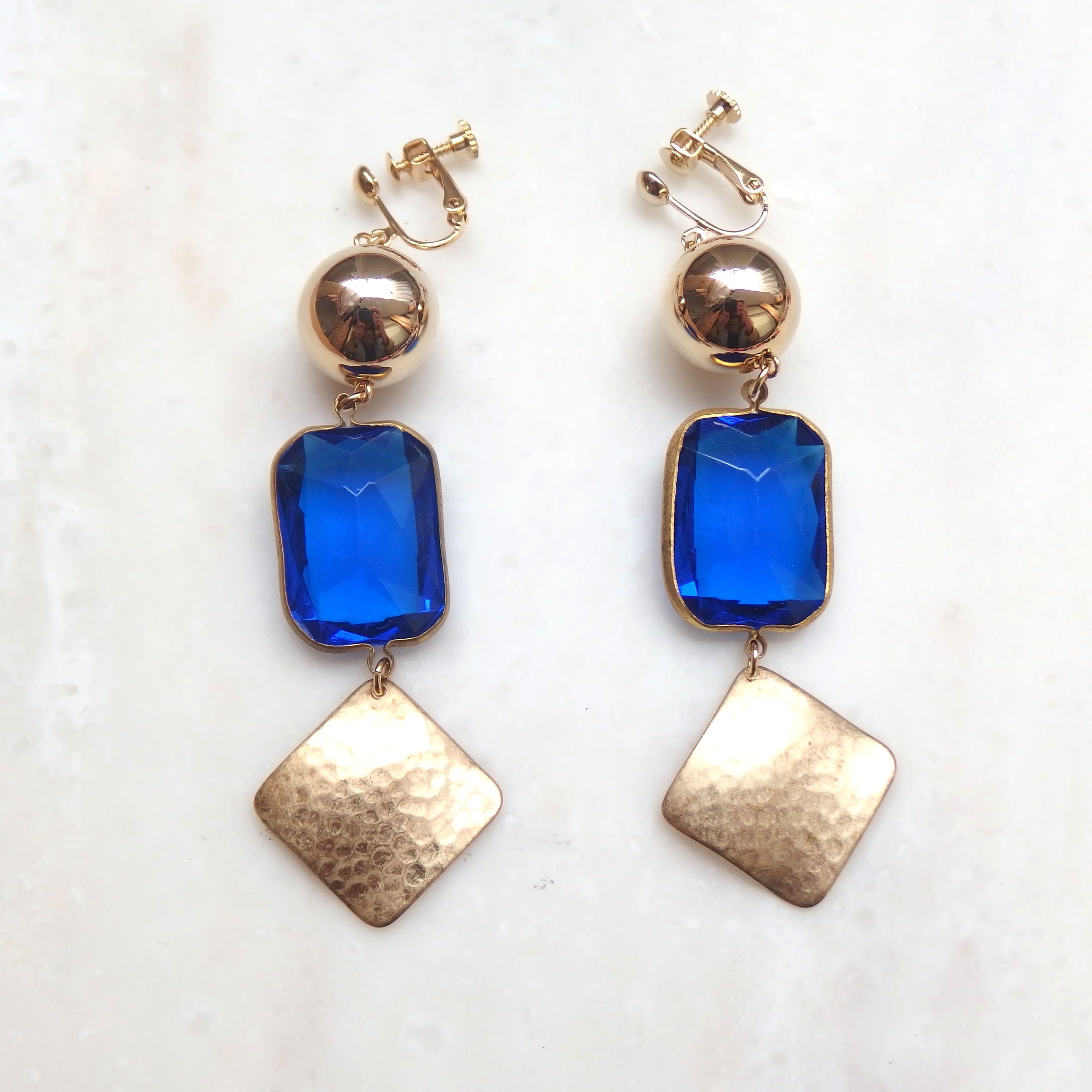 Blue Jewel Earring (ピアス/チタンピアス変更可能)