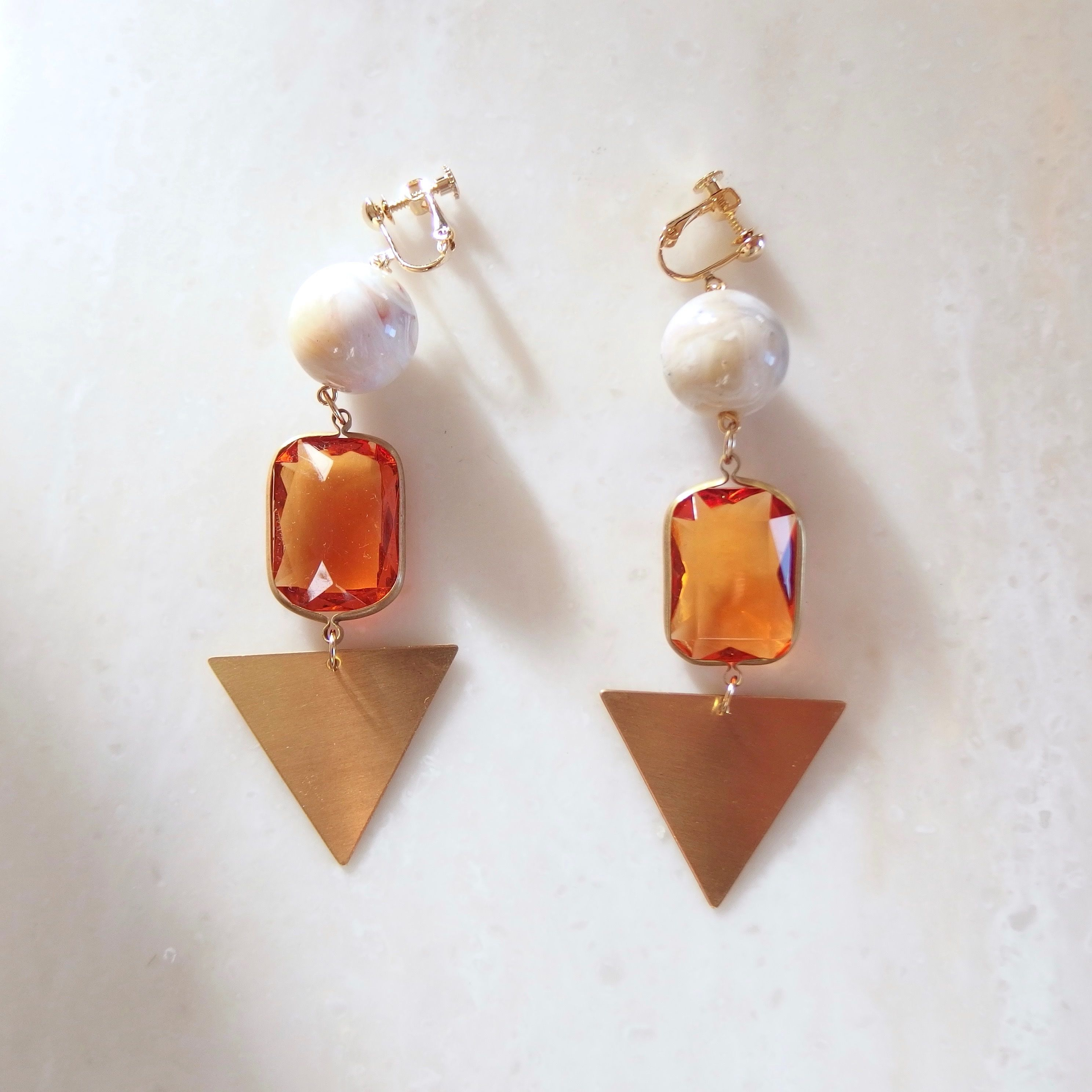 Triangle Yellow Earring (ピアス/チタンピアス変更可能)