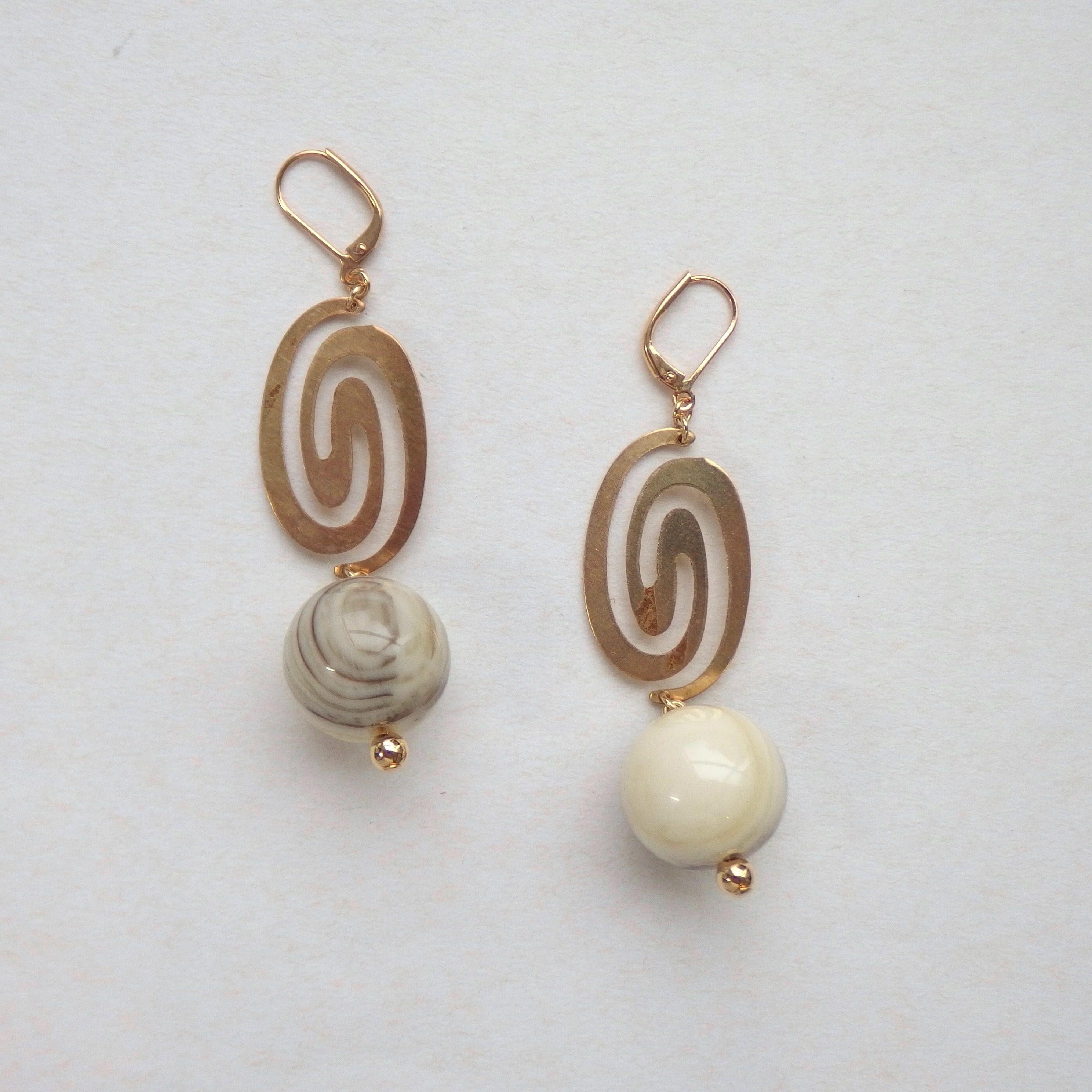 Marble Vintage Pierce(イヤリング/チタンピアス変更可能)