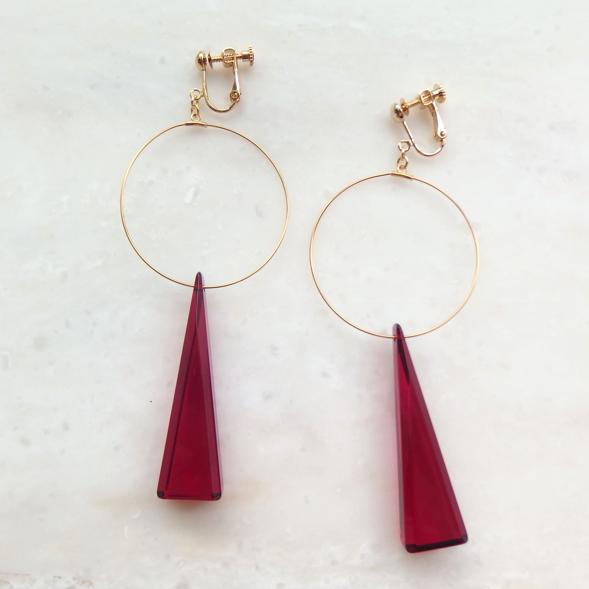 Red Triangle Earring(ピアス/チタンピアス変更可能)
