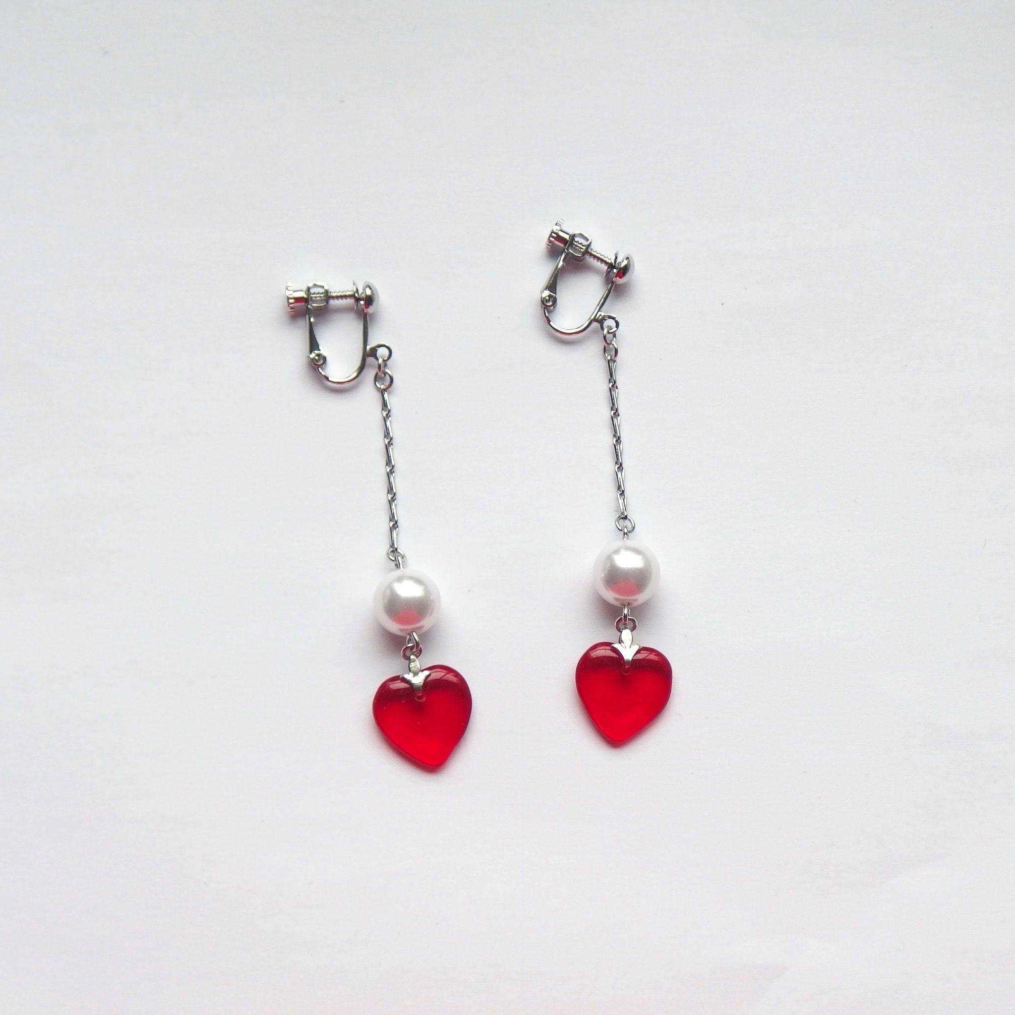 Heart Pearl Earring (ピアス/チタンピアス変更可能)