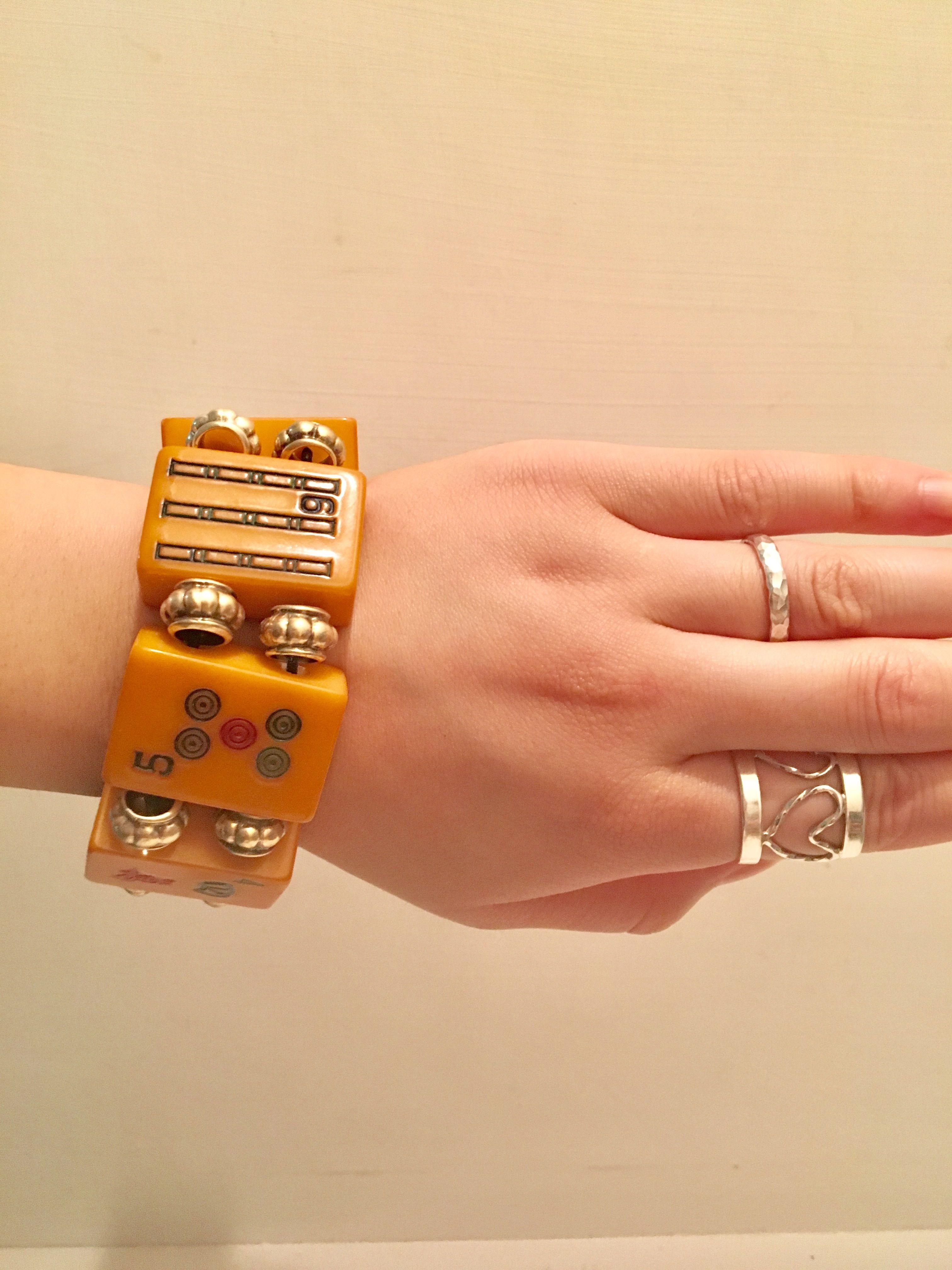 bakelite  Mahjong blacelet