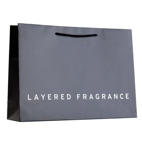 ショッピングバッグ プレゼント用ショッピングバッグ 黒※包装なしバッグのみ